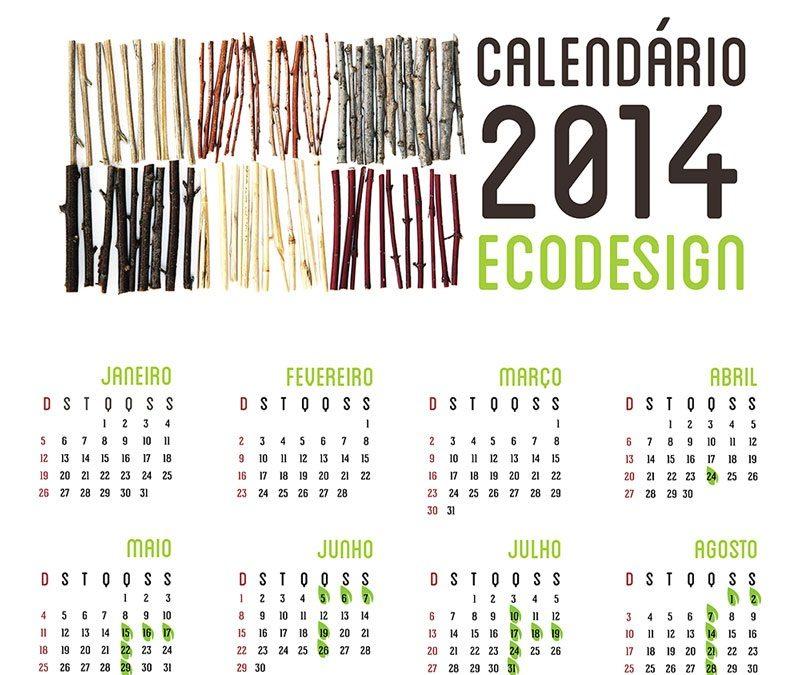Calendário do Curso de Especialização em Ecodesign