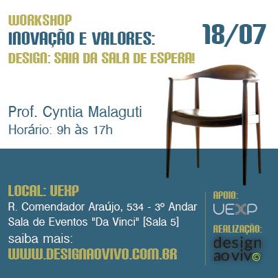 Novo workshop com realização da Design ao Vivo